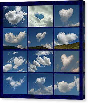 Valentine - Clouds For Sale Collage Canvas Print by Daliana Pacuraru