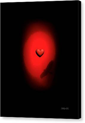 Valentine Heart 2 Canvas Print by Brian D Meredith