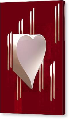 Valentine Paper Heart Canvas Print by Gary Eason