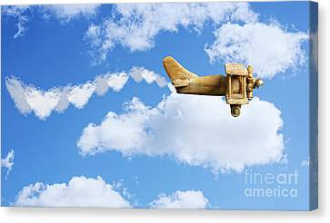 Valentine Plane Canvas Print by Amanda Elwell