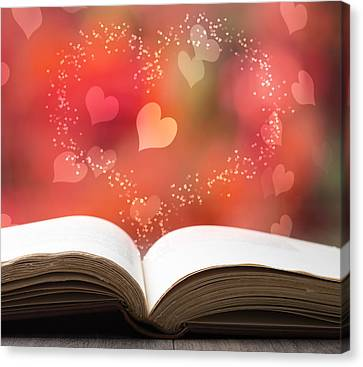 Valentine Story Book Canvas Print by Amanda Elwell