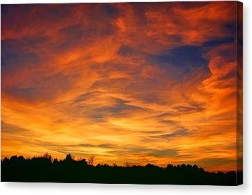Valentine Sunset Canvas Print by Tammy Espino