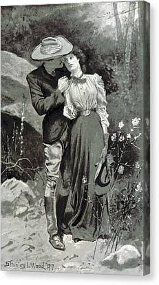 Canvas Print featuring the photograph Valentines Day, 1898 by British Library