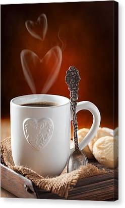 Valentine's Day Coffee Canvas Print
