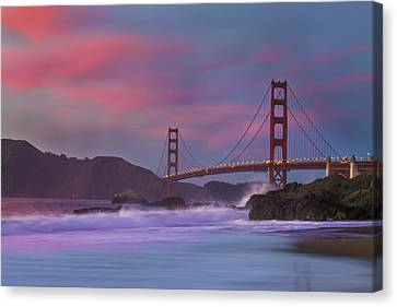 Valentine's Day Sunset Canvas Print by Jeremy Jensen