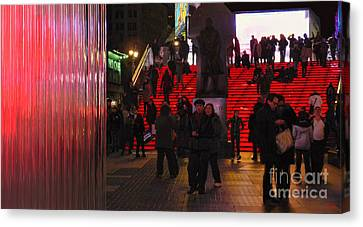 Valentine's Day - Times Square Canvas Print by Jeff Breiman