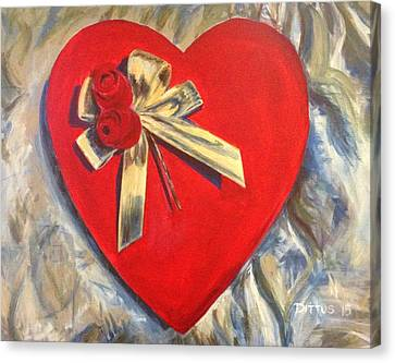 Valentine's Heart Canvas Print by Chrissey Dittus
