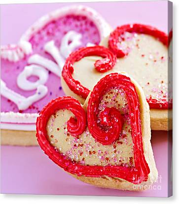 Bakery Canvas Print - Valentines Hearts by Elena Elisseeva