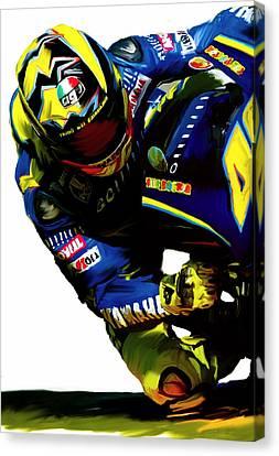 Valentino Rossi  Corner Speed IIi Canvas Print