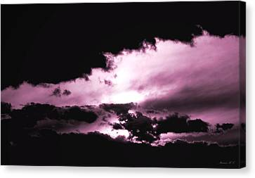 Canvas Print featuring the photograph Valkyrie Sky by Amanda Holmes Tzafrir