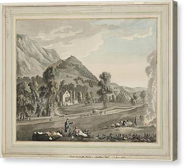Valle Crucis Abbey Canvas Print by British Library