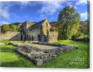 Valle Crucis Abbey V4 Canvas Print by Ian Mitchell