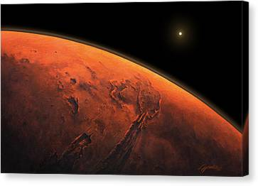 Valles Marineris Sunrise Canvas Print