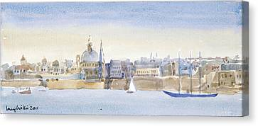 Valletta Skyline Canvas Print by Lucy Willis