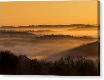 Valley Fog Canvas Print by Bill Wakeley