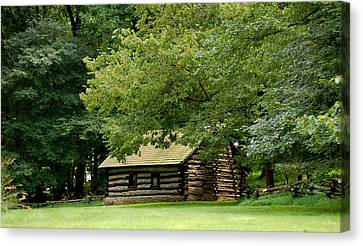 Valley Forge Cabin Canvas Print by Sherlyn Morefield Gregg