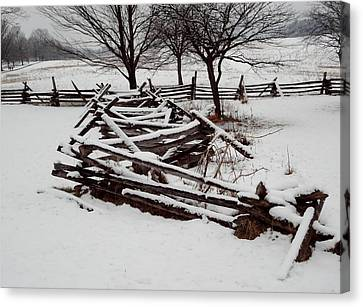 Canvas Print featuring the photograph Valley Forge Snow by Michael Porchik
