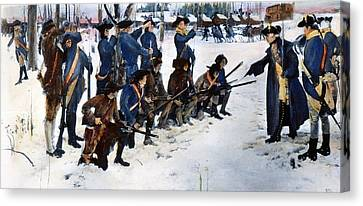 Valley Forge: Steuben, 1778 Canvas Print by Granger