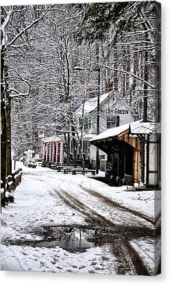 Wissahickon Canvas Print - Valley Green In Winter Along Forbidden Drive by Bill Cannon