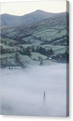 Valley Mists Canvas Print by Ashley Cooper