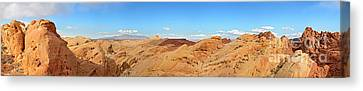 Valley Of Fire Pano Canvas Print by Jane Rix