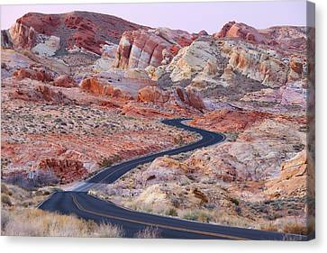 Valley Of Fire Road Canvas Print