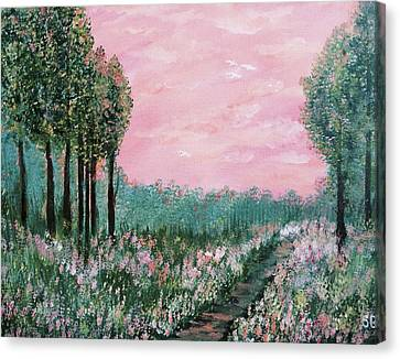 Valley Of Flowers Canvas Print by Suniti Bhand