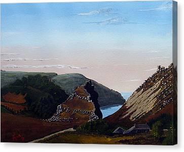 Valley Of Rocks Devon Canvas Print by Richard Taylor