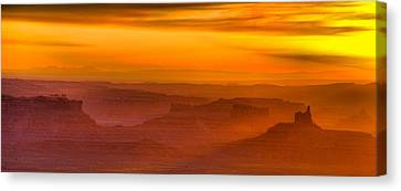 Cockscomb Canvas Print - Valley Of The Gods Sunrise Utah Four Corners Monument Valley II by Silvio Ligutti