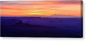 Cockscomb Canvas Print - Valley Of The Gods Sunrise Utah Four Corners Monument Valley by Silvio Ligutti