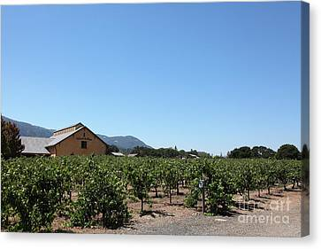 Napa Valley And Vineyards Canvas Print - Valley Of The Moon Winery In The Sonoma California Wine Country 5d24486 by Wingsdomain Art and Photography