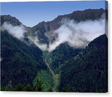 Alpine Canvas Print - Valley On Mt. Clapperhorn by Janet Ashworth
