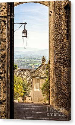 Valley Outside Assisi Canvas Print