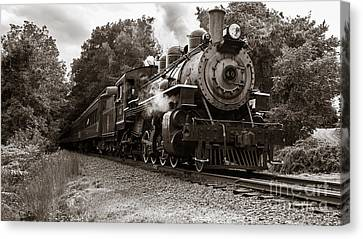 Valley Railroad Steam Train Canvas Print by Edward Fielding