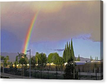 Valley Rainbow 3 Canvas Print
