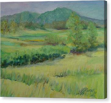Valley Ranch Rural Western Landscape Painting Oregon Art  Canvas Print