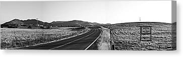 Canvas Print featuring the photograph Valley Springs Road Panorama by Lennie Green
