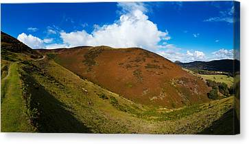 Valley To Hopes Wood, Little Stretton Canvas Print by Panoramic Images