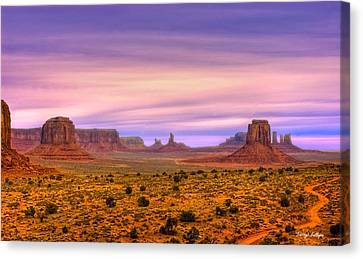 Valley Trail Canvas Print by Darryl Gallegos