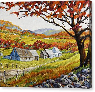 Valley View By Prankearts Canvas Print by Richard T Pranke