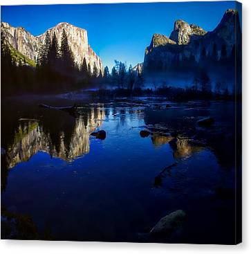 Valley View Yosemite National Park Reflection Canvas Print