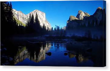 Valley View Yosemite National Park Waterscape Canvas Print