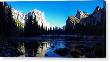 Valley View Yosemite National Park Winterscape Canvas Print by Scott McGuire