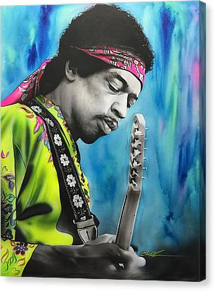 Jimi Hendrix - ' Valleys Of Saturn ' Canvas Print