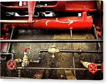 Valves Lines And Tanks Canvas Print