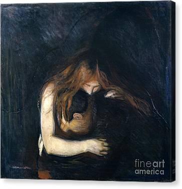 Vampire Canvas Print by Edvard Munch
