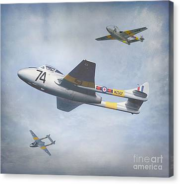 Canvas Print featuring the photograph Vampire Jet II by Roy  McPeak