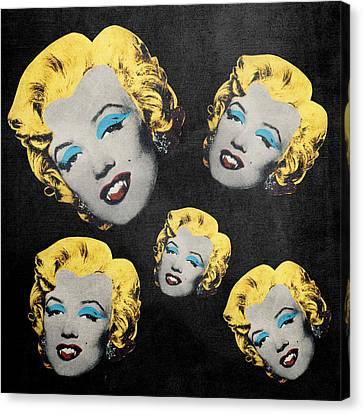 Vampire Marilyn 5 Canvas Print by Filippo B