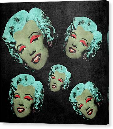 Vampire Marilyn 5a Canvas Print by Filippo B