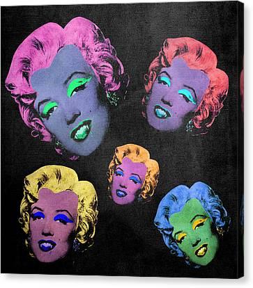 Vampire Marilyn 5b Canvas Print by Filippo B